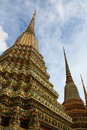 Stupa at Wat pho in Bangkok Royalty Free Stock Photo
