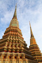 Stupa at Wat pho in Bangkok Thailand Stock Photography