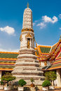 Stupa at wat phra kaew temple thailand bangkok Stock Photography