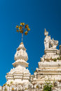 Stupa at wat saen fang temple in chiang mai thailand ancient construction of public property Royalty Free Stock Photography