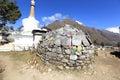 Stupa on the way to everest base camp