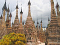 Stupas forest of the Paya Royalty Free Stock Image