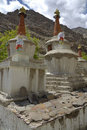 Stupas at Hemis Gompa, Ladakh, India Royalty Free Stock Images