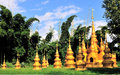 Stupas the many dai nationality golden in bamboo forest in xishuangbanna yunnan china Stock Photos