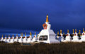 Stupas in sichuan province china Royalty Free Stock Image