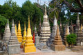 Stupas at Wat Bo Stock Photo