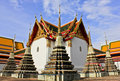 Stupas in Wat Pho Royalty Free Stock Photo