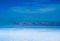 Stykkish snafellsnes boat and sea vista og hnappadalssysla in western iceland Royalty Free Stock Images
