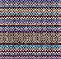 Style abstract seamless color knitted pattern Royalty Free Stock Photos