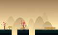 Style cute scenery for game background