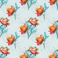 Style flowers for pattern
