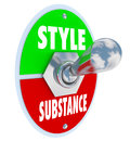 Style Over Substance Toggle Switch Words Flash Vs Function
