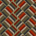 Style Seamless Knitted Pattern Royalty Free Stock Image