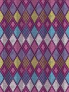 Style seamless knitted pattern blue pink yellow color illustration Stock Image
