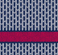 Style seamless marine blue white red color knitted pattern Royalty Free Stock Images