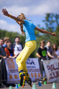 Style-slalom competition Royalty Free Stock Images