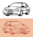 Styled car icon. Vector Stock Photo