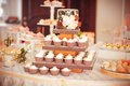 Styled wedding cookies decorated sweets Stock Photo