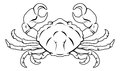 Stylised crab illustration an of a black perhaps a tattoo Stock Photography