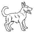 Stylised dog illustration an of a perhaps a tattoo Stock Images
