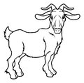Stylised goat illustration an of a or ram perhaps a tattoo Royalty Free Stock Photography