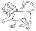 Stylised lion illustration an of a black perhaps a tattoo Stock Photos