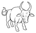 Stylised ox illustration an of a or bull perhaps an tattoo Royalty Free Stock Photos
