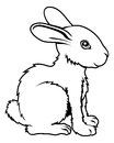 Stylised rabbit illustration an of a perhaps a tattoo Royalty Free Stock Photography