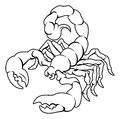 Stylised scorpion illustration an of a black perhaps a tattoo Royalty Free Stock Image
