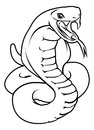 Stylised snake illustration an of a or cobra perhaps a tattoo Royalty Free Stock Photos