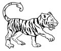 Stylised tiger illustration an of a perhaps a tattoo Stock Photo