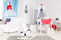 Stylish baby room