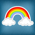 Stylish background clouds rainbows Royalty Free Stock Photo