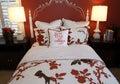 Stylish bedroom decor Royalty Free Stock Photo