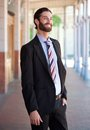 Stylish businessman smiling in suit Royalty Free Stock Photo