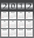 Stylish calendar for 2012 Royalty Free Stock Photography
