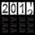 Stylish calendar  for 2012. Royalty Free Stock Images