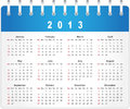 Stylish calendar page for 2013 Royalty Free Stock Photography