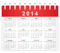 Stylish calendar page for week starts from sunday Royalty Free Stock Image