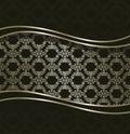 Stylish card with seamless damask wallpaper Royalty Free Stock Photo