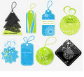 Stylish Christmas price tags Stock Image