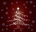 Stylish Christmas tree Royalty Free Stock Photography
