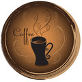 Stylish coffee cup sketched design vector icon for coffee shop o Royalty Free Stock Photo