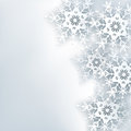 Stylish creative abstract background, 3d snowflake Royalty Free Stock Photo