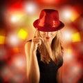 Stylish disco girl Stock Photo