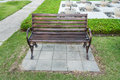 Stylish empty bench in park the Royalty Free Stock Photo