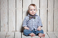 Stylish fashion kid in bow tie Royalty Free Stock Images