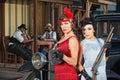Stylish Female Gangsters Royalty Free Stock Photo