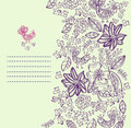 Stylish floral card Stock Photography