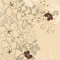 Stylish floral light beige background Stock Images